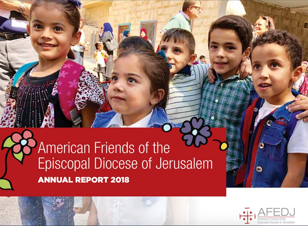 The cover of the 2018 AFEDJ Annual Report.