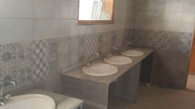 A photo of renovated bathroom at Holy Land Institute for the Deaf.