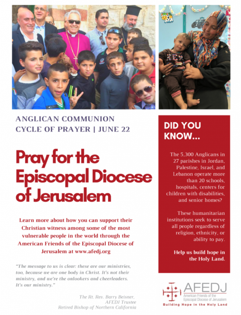 A flyer for the Anglican Communion Cycle of Prayer