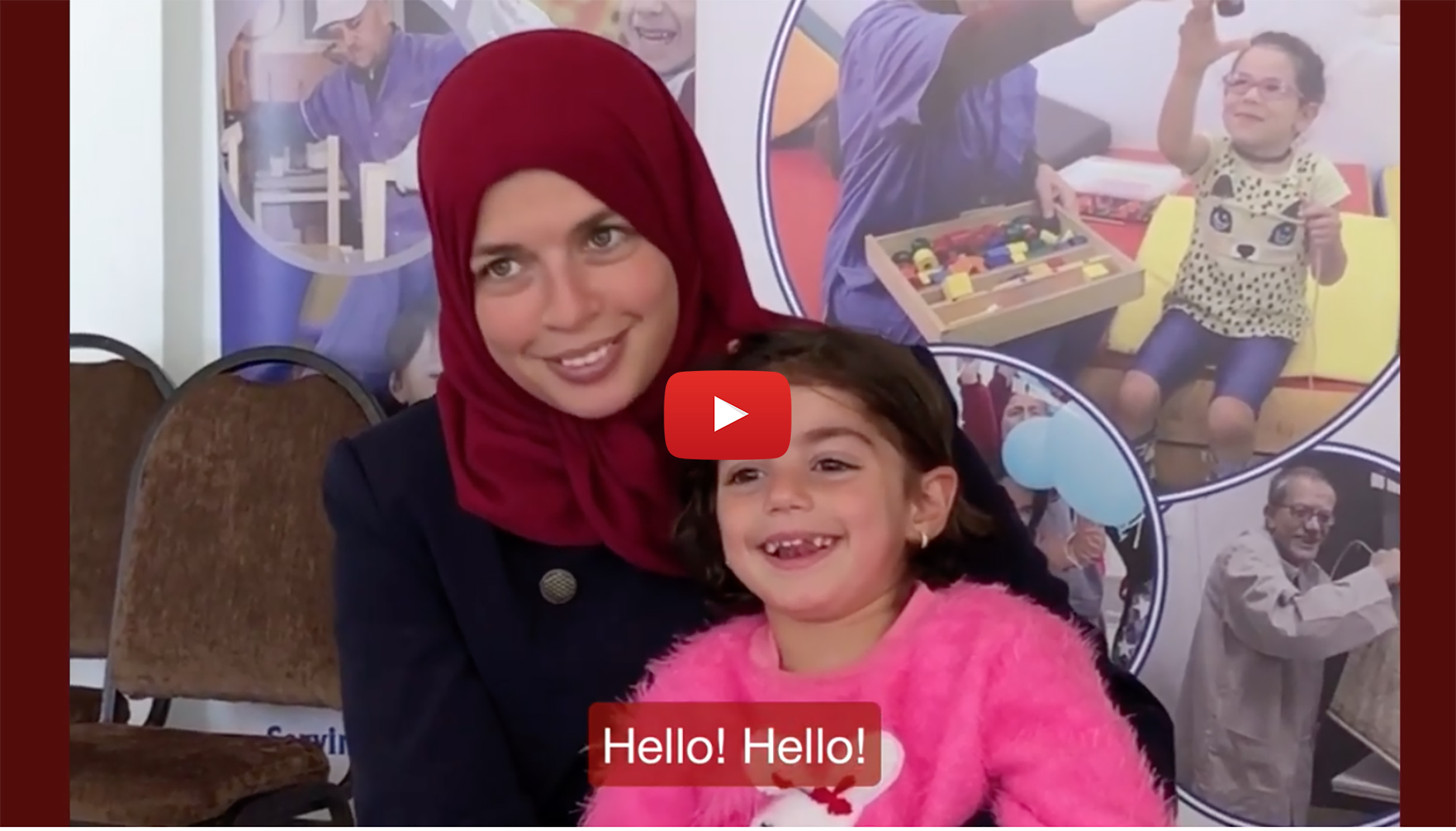 A mother and her daughter interviewed at the Princess Basma Center