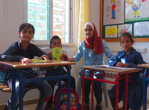 A photo of students in a classroom at Jofeh school