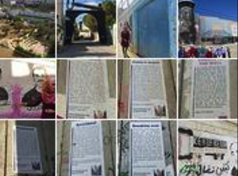 A screenshot of multiple photos representing Palestine Photo Galleries