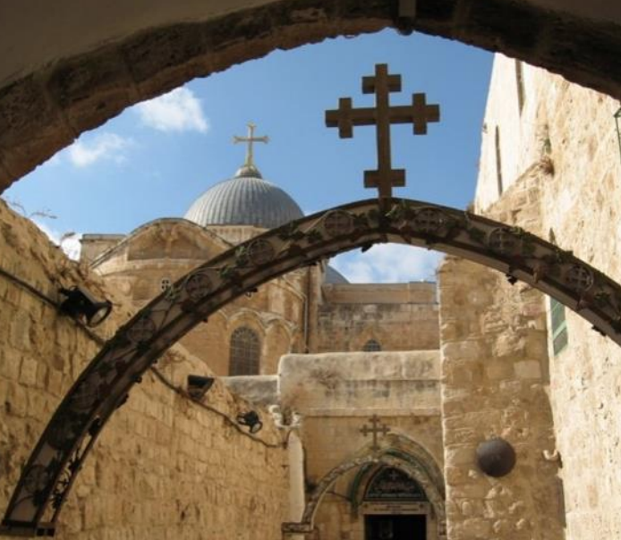 Via Dolorosa in the old city of Jerusalem