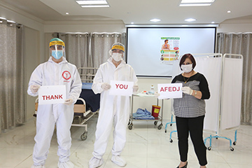 Thank you from staff at St. Luke's Hospital in Nablus, West Bank