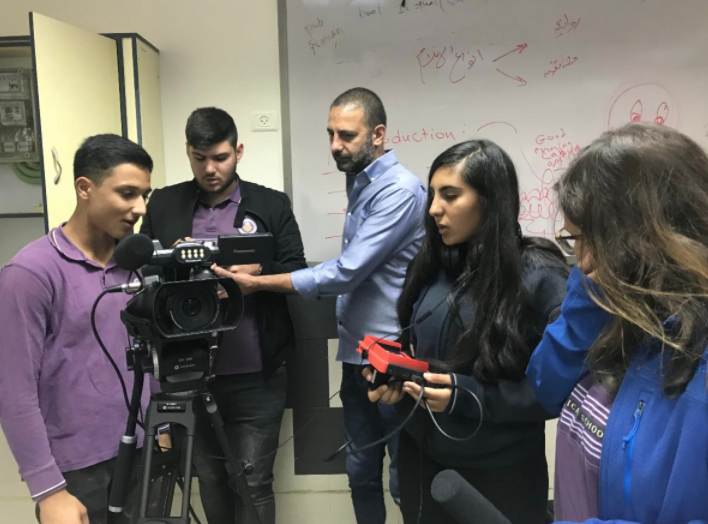 High school students at Christ Episcopal School in Nazareth learn video production in their fully-equipped media lab last fall.
